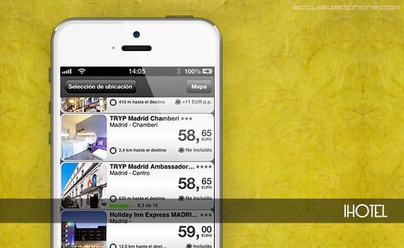 ihotel iHotel, una app para reservar hoteles desde tu iPhone