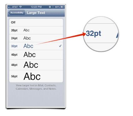 Screen Shot 2013 04 04 at 5.04.10 PM Así puedes agrandar el texto en iOS