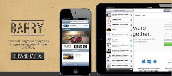 barry Barry, una aplicación que permite realizar capturas de una página web al completo