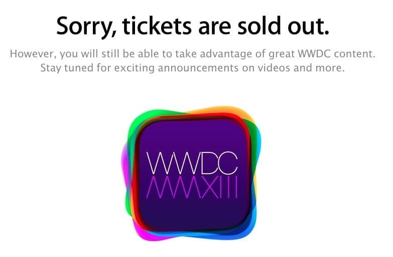 wwdc La WWDC 2013 se celebrará del 10 al 14 de junio