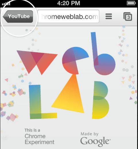 Screen Shot 2013 05 07 at 1.41.10 PM Google mantiene la guerra contra Safari y hace más fácil el acceso a Chrome en iOS