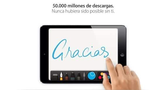 descarga 50 mil millones La App Store alcanza las 50.000 millones de descargas