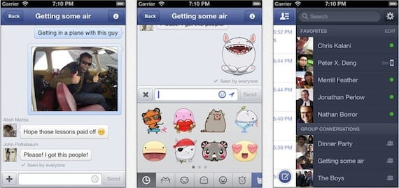 facebook messenger Facebook Messenger se actualiza para añadir stickers