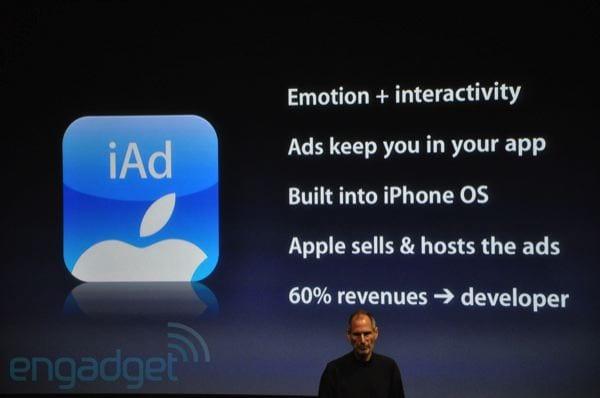 Apple trabaja en cambios para iAd