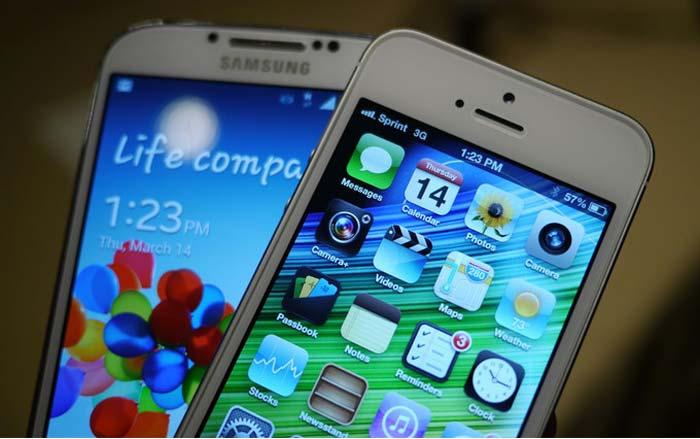 iphone 5 y galaxy s4 El Galaxy S4: el mejor smartphone del mercado, según Consumer Reports