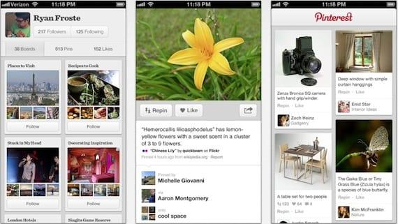 pinterest Pinterest se actualiza para añadir notificaciones Push