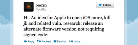 123446 640 Pod2g propone un iOS que permita ejecutar código sin firmar