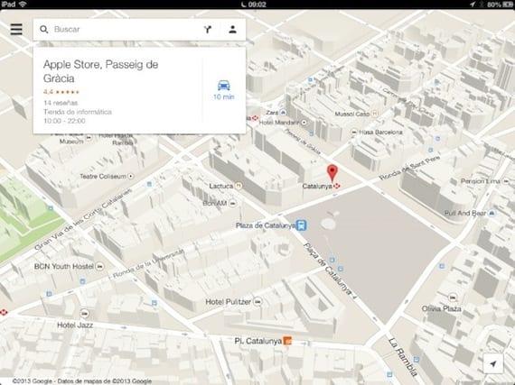 googlemaps ipad Google Maps actualizado a la versión 2.0 con mapas de interiores, mejoras de navegación y diseño para iPad
