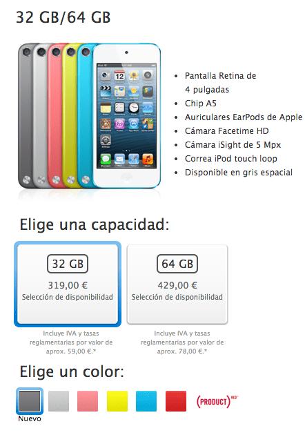 ipod gris espacial El color gris espacial también llega a los iPod