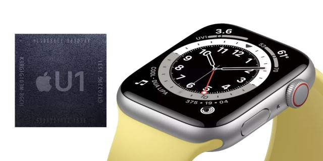 The Apple Watch Series 6 carries the U1 chip from the iPhone 11