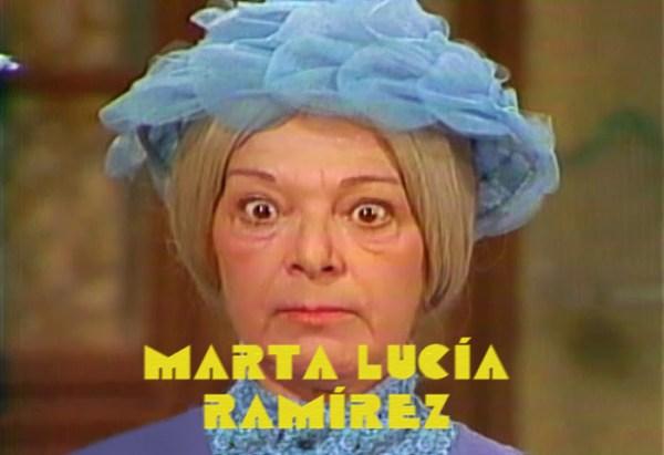 Martha Lucía Ramírez en el cabezote de presentación de El Chavo del Ocho en 1977.