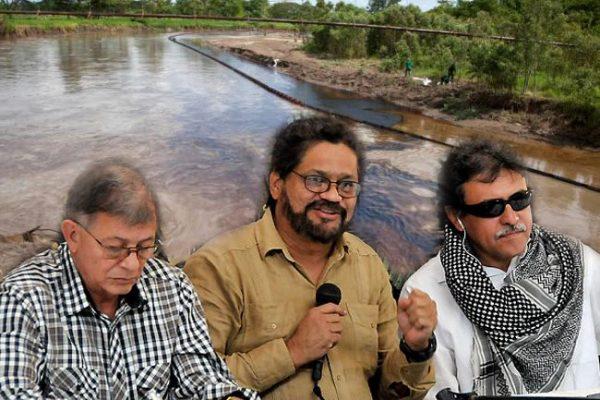 En palabras de las FARC, los derrames de petróleo liberan los ecosistemas del imperialismo yankee