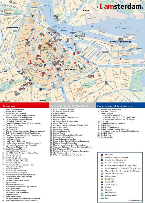 Carte dAmsterdam aux PaysBas Plusieurs cartes de la ville