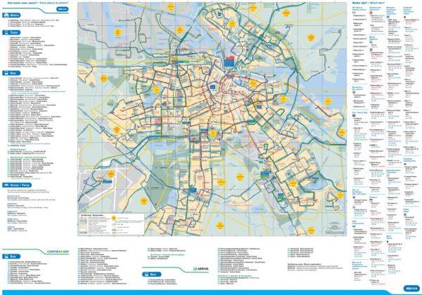 Carte d39Amsterdam aux PaysBas Plusieurs cartes de la ville
