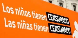 Autobús de HazteOir.org que muestra la censura a la que es sometida la asociaicónpor discrepar de lo políticamente correcto. /HO