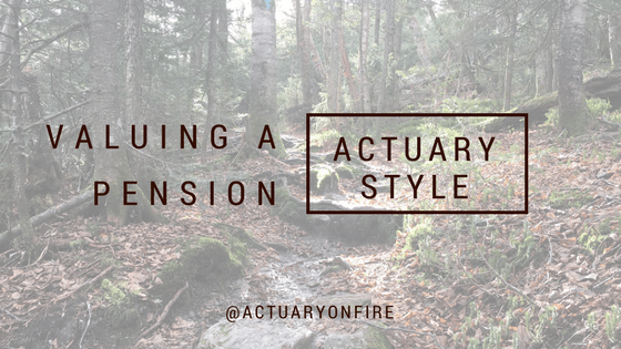 Valuing a pension – actuary style