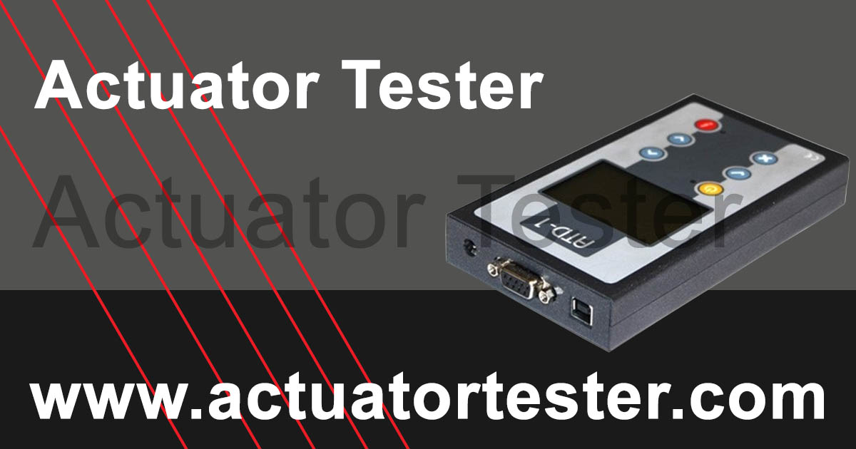 Actuator Tester - Supported Actuators