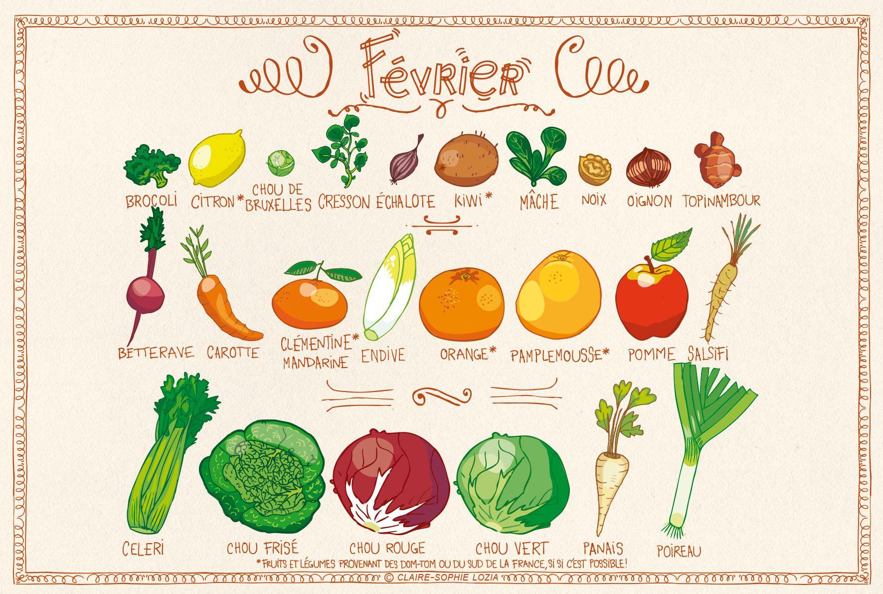You are currently viewing Fruits et légumes de février