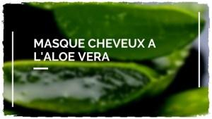 Masque pour cheveux à l'Aloe Vera