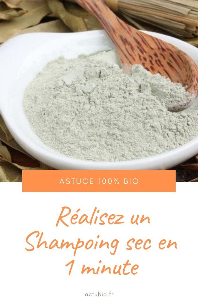 shampoing sec bio maison