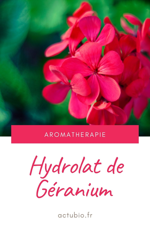 L'hydrolat de Géranium purifie les peaux grasses et acnéiques