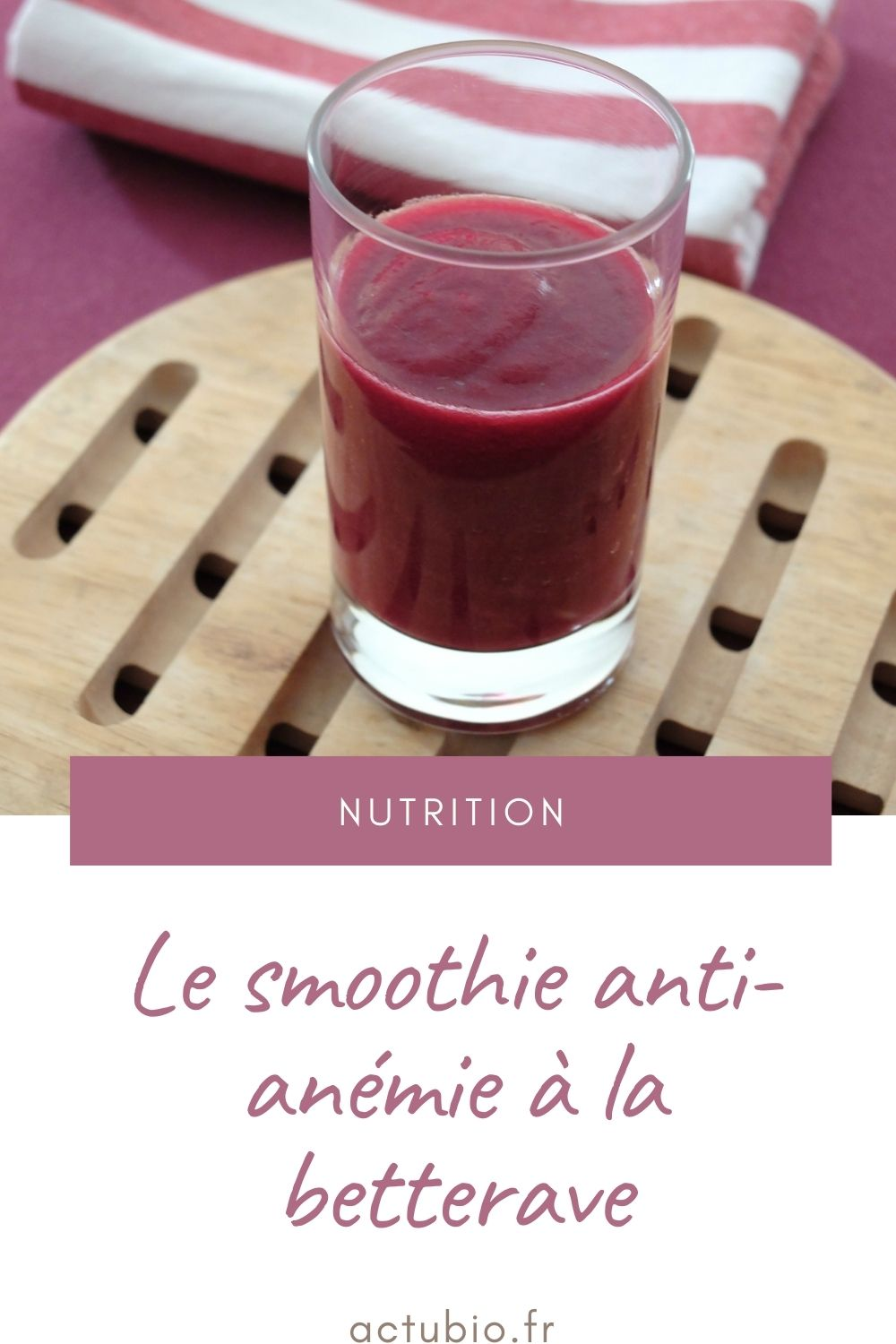 You are currently viewing Smoothie anti-anémie à la betterave
