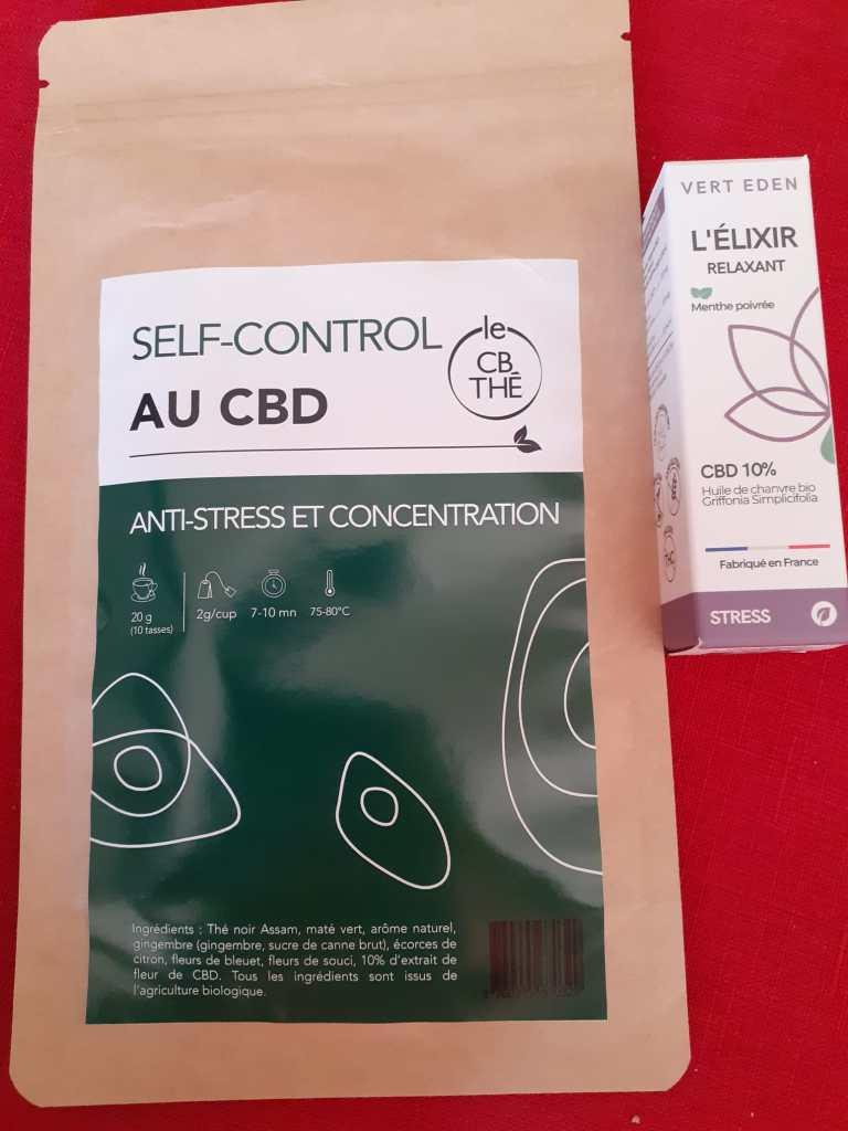 Huile CBD Elixir Relaxant et Thé anti-stress au CBD