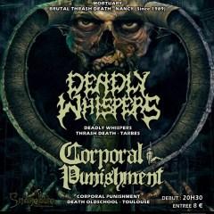 MORTUARY + DEADLY WHISPERS + CORPORAL PUNISHMENT @ l'Usine A Musique