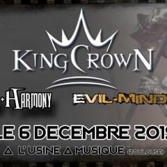 KingCrown + Hybrid Harmony + Evil Minded @ L'Usine à Musique
