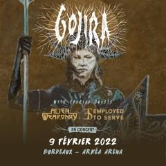GOJIRA + ALIEN WEAPONRY + EMPLOYED TO SERVE @ Arkea Arena (Bordeaux)