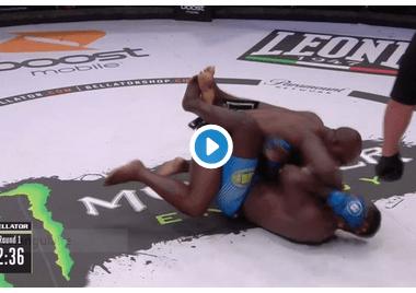 Manhoef TKO Bahati Bellator Milan