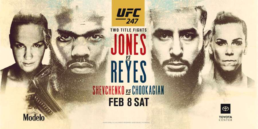 UFC 247 Jones vs Reyes les résultats
