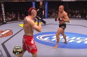 GSP a gagné Dan Hardy en 2010 à l'UFC 111