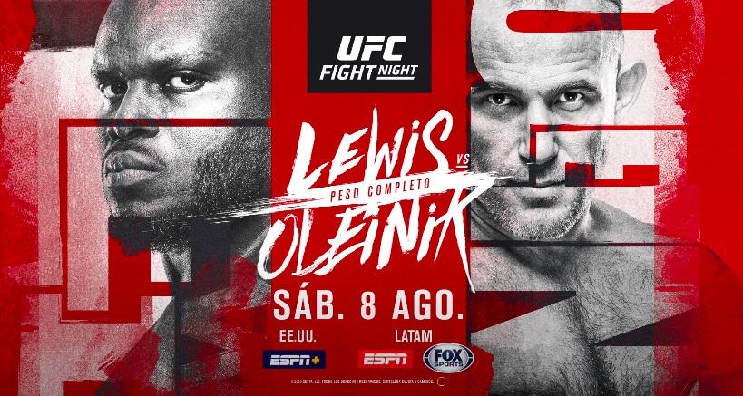tous les résultats UFC VEGAS 6 Derrick Lewis vs Aleksei Oleinik