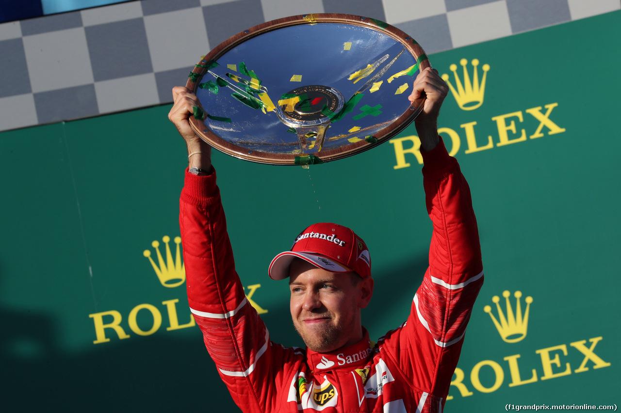 26.03.2017 - Race, Sebastian Vettel (GER) Scuderia Ferrari SF70H race winner