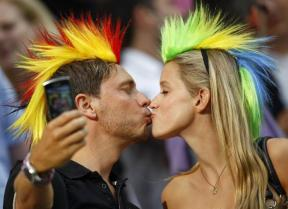 kiss Supportrice Allemagne Coupe du monde 2014