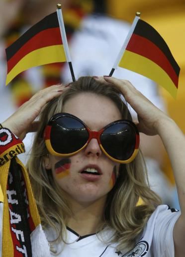 lunette Supportrice Allemagne Coupe du monde 2014