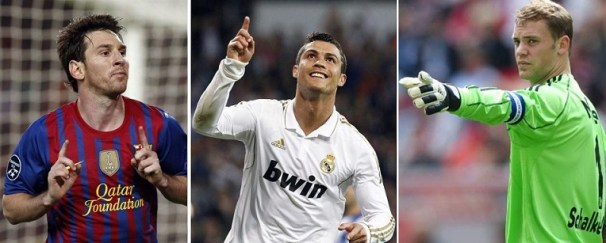 FIFA ballon d'or 2014 messi ronaldo neuer voter