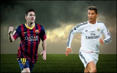 ronaldo vs. messi de face