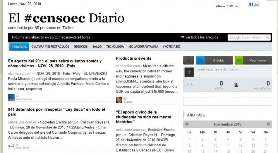 Diario con el tag #censoec creado por Acuario27