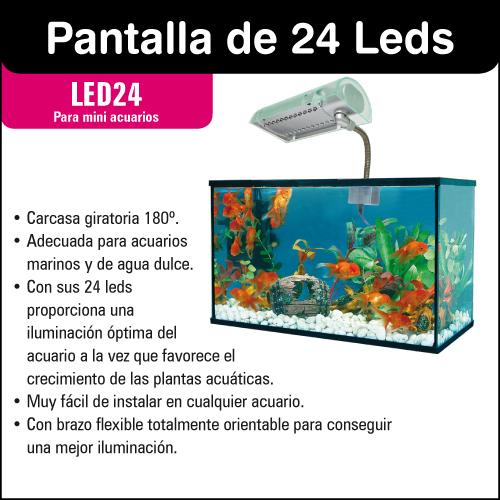 24 LEDs display for mini aquariums optimum lighting