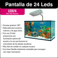 24 LEDs display for mini aquariums optimum lighting