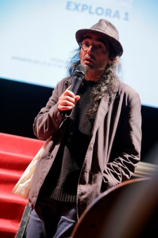 Alberte Pagán, na presentación de Superficies - Sonho bolivariano (balor)'. FOTO: DAVID TOMBILLA-