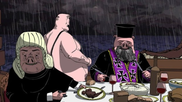 'Dinner for Few'. interesante animación, fábula da crise grega.