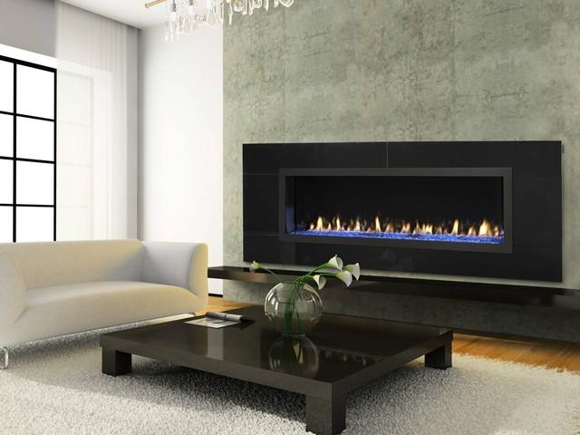 Open Gas Fireplace  No Glass Fireplace Modern Design