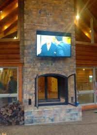 Custom See Through Outdoor Indoor Wood Burning Fireplace