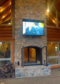 Custom See Through Outdoor Indoor Wood Burning Fireplace ...