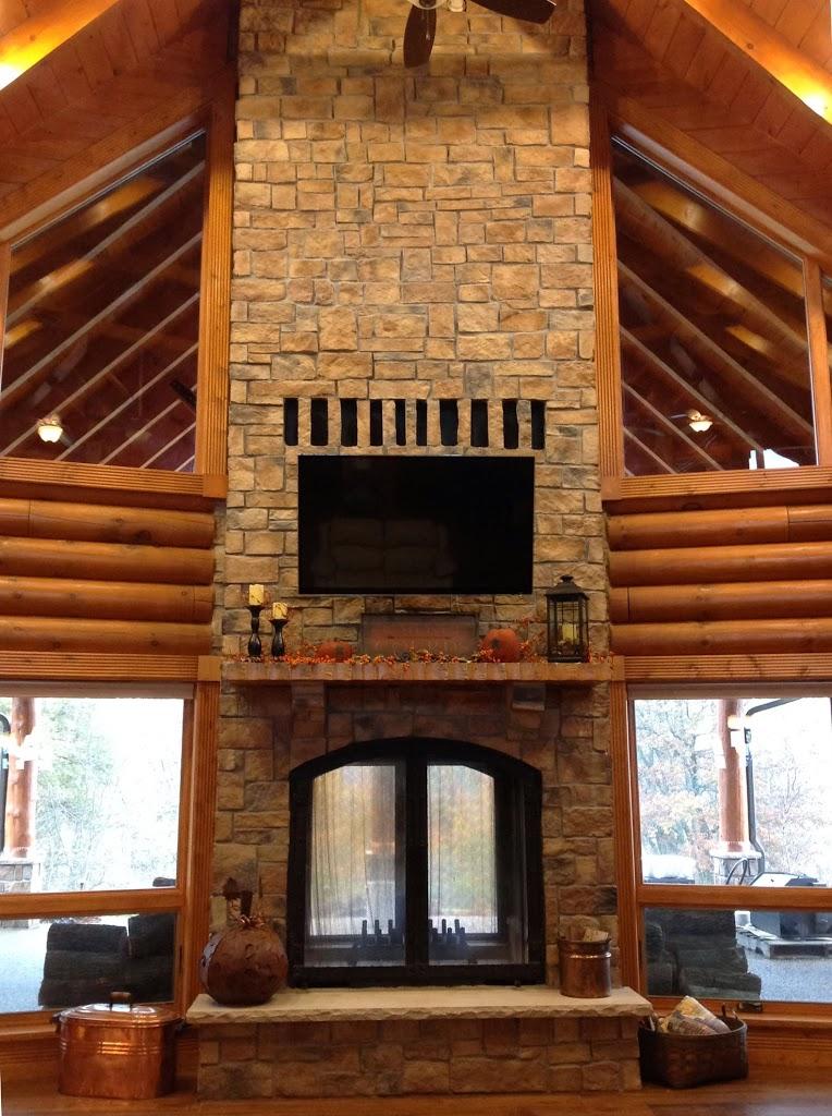 Custom See Through Outdoor Indoor Wood Burning Fireplace  Acucraft