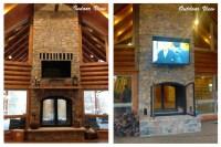Custom See Through Outdoor Indoor Wood Burning Fireplace ...