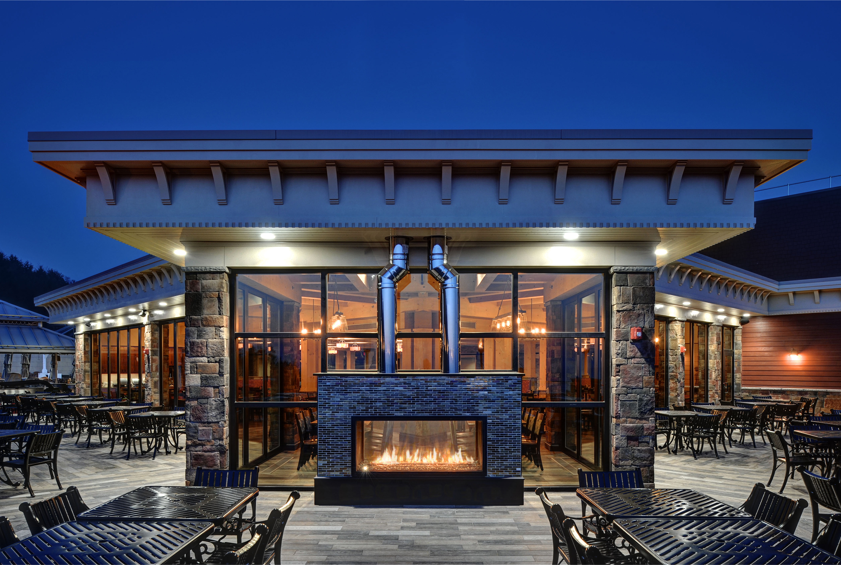 Custom Commercial Gas Fireplace Manufacturer